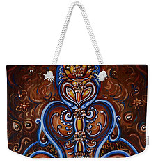 Weekender Tote Bag featuring the painting Meditation by Harsh Malik