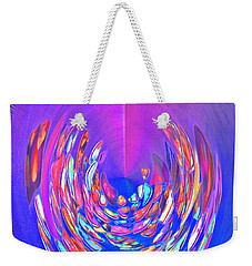 Weekender Tote Bag featuring the photograph Meditation In Blue by Nareeta Martin