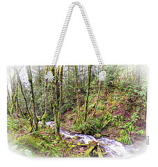 Weekender Tote Bag featuring the photograph Meditation In The Woods by Spencer McDonald