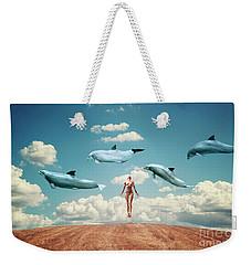Meditation Weekender Tote Bag by Jacky Gerritsen