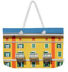 Mediterranean Colours On Building Facade Weekender Tote Bag