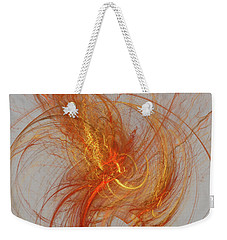 Medusa Bad Hair Day - Fractal Weekender Tote Bag by Menega Sabidussi