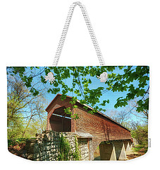 Meem's Bottom Bridge In Spring Weekender Tote Bag