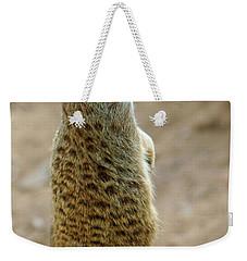 Meerkat Portrait Weekender Tote Bag by Carlos Caetano