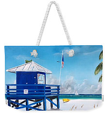 Meet At Blue Lifeguard Weekender Tote Bag