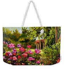 Meet Me In The Garden Weekender Tote Bag by Chris Brandley