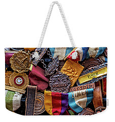 Weekender Tote Bag featuring the photograph Meet Medals by Christopher Holmes
