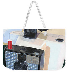 Weekender Tote Bag featuring the painting Meet The Swinger by Lynne Reichhart