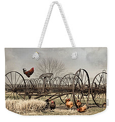 Weekender Tote Bag featuring the photograph Meeting At Rusty Rake by Robin-Lee Vieira