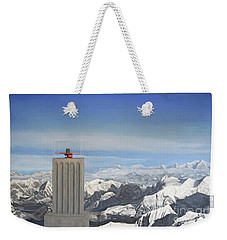 Meeting Table Oil On Canvas Weekender Tote Bag