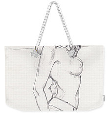 Megan - Sketch Weekender Tote Bag