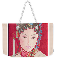 Mei Ling -- Portrait Of Woman From Chinese Opera Weekender Tote Bag
