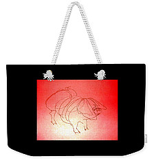 Meishan Sow 3 Weekender Tote Bag by Larry Campbell