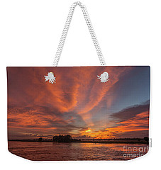 Weekender Tote Bag featuring the photograph Mekong Sunset 3 by Werner Padarin