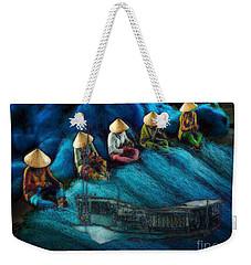 Mekong Weavers Weekender Tote Bag by Mojo Mendiola