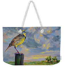 Melancholy Song Weekender Tote Bag
