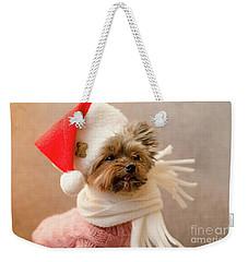 Melanie In Christmas Hat Weekender Tote Bag