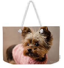 Melanie In Pink Mohair  Weekender Tote Bag