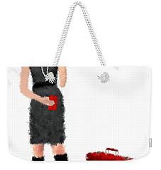 Weekender Tote Bag featuring the digital art Melanie by Nancy Levan