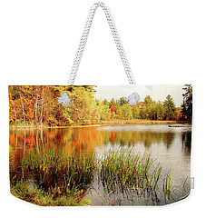 Weekender Tote Bag featuring the photograph Mellow Days by Betsy Zimmerli