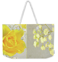 Weekender Tote Bag featuring the photograph Mellow Yellow by Lyn Randle