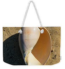 Weekender Tote Bag featuring the photograph Melon Shell Voluta Aethiopica by Frank Wilson