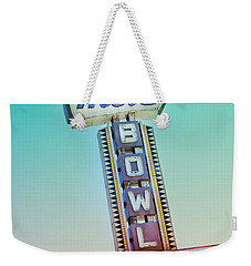 Mels Bowl Retro Sign Weekender Tote Bag