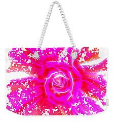 Melting Pink Rose Fractalius Weekender Tote Bag