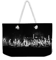 Memorial Candles II Weekender Tote Bag by Yoel Koskas