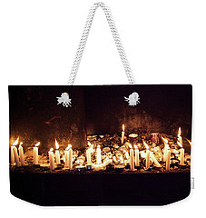 Memorial Candles Weekender Tote Bag by Yoel Koskas