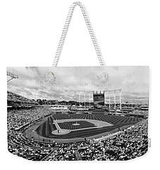 Memorial Day At Kauffman Stadium Bw Weekender Tote Bag