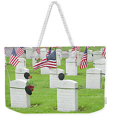 Memorial Day Two Weekender Tote Bag by Caroline Stella