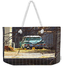 Memories Of Old Blue, A Car In Shantytown.  Weekender Tote Bag