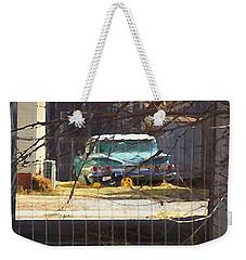 Memories Of Old Blue, A Car In Shantytown.  Weekender Tote Bag