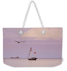 Weekender Tote Bag featuring the photograph Memories Of The Lake by Heidi Hermes