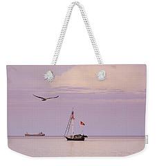 Memories Of The Lake Weekender Tote Bag by Heidi Hermes