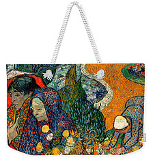Weekender Tote Bag featuring the painting Memory Of The Garden At Etten by Van Gogh