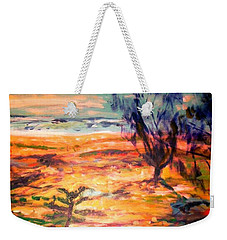 Weekender Tote Bag featuring the painting Memory Pandanus by Winsome Gunning
