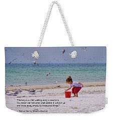 Weekender Tote Bag featuring the photograph Memory by Peggy Hughes