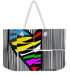 Weekender Tote Bag featuring the digital art Memory Popart Heart By Nico Bielow  by Nico Bielow