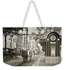 Memphis Carriage Weekender Tote Bag by Liz Leyden