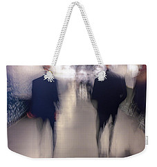 Men In Suits Weekender Tote Bag by Alex Lapidus