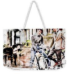 Men On Bikes Weekender Tote Bag