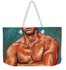 Man Sweat Weekender Tote Bag
