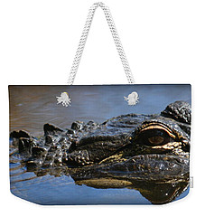 Menacing Alligator Weekender Tote Bag