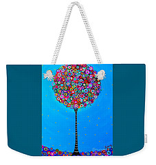 Weekender Tote Bag featuring the painting Purpose Of Life by Pristine Cartera Turkus