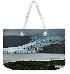 Weekender Tote Bag featuring the photograph Mendenhall Glacier by Ed Clark