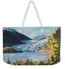 Mendenhall Glacier Juneau Alaska Weekender Tote Bag