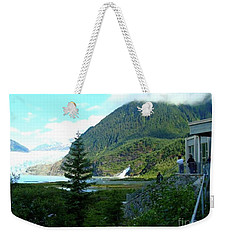 Weekender Tote Bag featuring the photograph Mendenhall Glacier View From Center by Janette Boyd