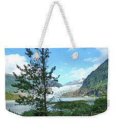 Weekender Tote Bag featuring the photograph Mendenhall Glacier View From Path by Janette Boyd